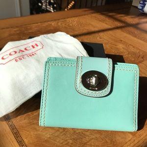 Tiffany blue Coach wallet